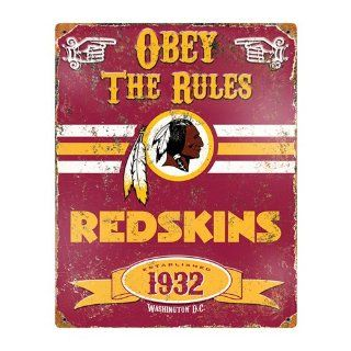 Washington Redskins NFL Vintage Metal Sign   Home Office Furniture