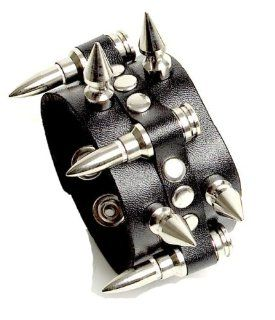 Bullet Spike Wristband Black Metal Deathrock Goth Punk Bracelet: Everything Else