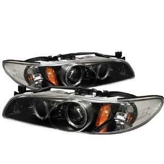 Spyder PRO YD PGP97 1PC HL BK Pontiac Grand Prix 1 Piece Halo Black Projector Headlights Assembly (Sold in Pairs) Automotive