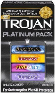Trojan Platinum Pack  10 Pack, Best: Health & Personal Care