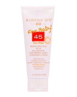 For Baby! Broad Spectrum SPF 45 All Natural Sunscreen Lotion, 3.4oz   Hampton