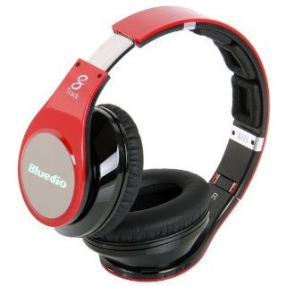 Bluedio R+ Bluetooth Stereo Hi fi Headphone the upgrade version of R Supports NFC aptX� audio suppression solution Bluetooth4.0 8 Tracks headset Support Line iN Mode Multi Media Playing Micro SD Card(32GB) Playing (Red) Electronics