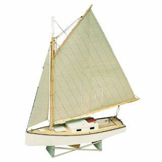 Midwest Products 965 Static Display Apprentice Boat Model Crafts Kit, Beginner, Chesapeake Bay Flattie   Hobby Model Boat Building Kits