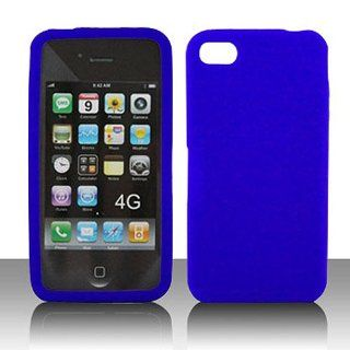 Frosted Clear Blue Soft Silicone Gel Skin Cover Case for Apple iPhone 4 4S: Cell Phones & Accessories