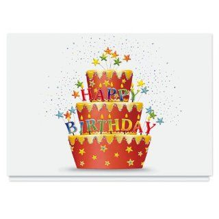 Red Velvet Birthday Card   25 Premium Birthday Cards with Foiled lined Envelopes: Health & Personal Care