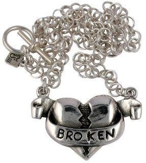 Femme Metale Broken Heart Necklace: Pendant Necklaces: Jewelry