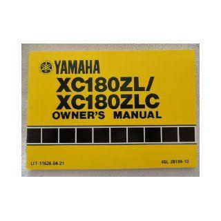 1983 1984 Yamaha XC180ZL Owners Manual XC 180 ZL / ZLC Yamaha Books