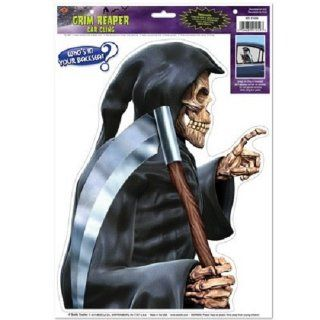 Grim Reaper Car Cling Backseat Driver Window Decal Halloween Decoration   Childrens Party Decorations