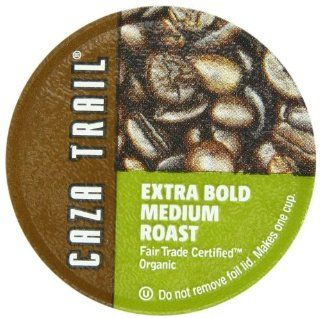 Caza Trail Extra Bold Medium Roast Single Serve Cup for Keurig K cup Brewers, Organic, 52 Count  Coffee Brewing Machine Cups  Grocery & Gourmet Food