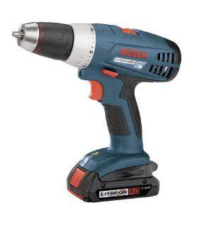 Bosch 36618 02 18 Volt 1/2 Inch Compact Tough Litheon Drill/Driver with 2 Slim Batteries   Power Pistol Grip Drills