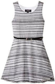Amy Byer Girls 7 16 Sweater Knit Tank Dress with Rope Belt Clothing