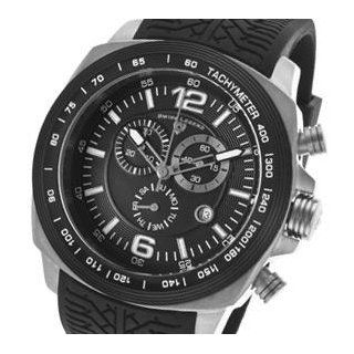 "Swiss Legend Men's ""Sprinter"" Stainless Steel and Black Ion Plating Black Silicone Watch Watches"
