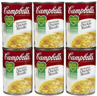 Campbell's Healthy Request Homestyle Chicken Noodle Condensed Soup, 10.5 oz, 12 ct  Grocery & Gourmet Food