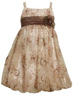 Bonnie Jean Girls 2 6X Sequin Bubble Dress Special Occasion Dresses Clothing