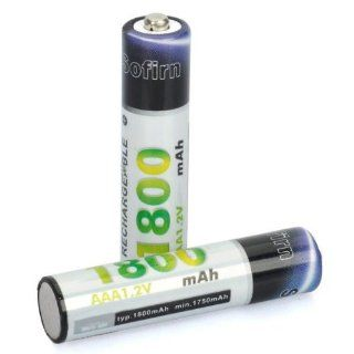 Sofirn Rechargeable 1.2V 1800mAh AAA Ni MH Batteries Battery (2 Piece Pack) : Camera Flash Battery Packs : Camera & Photo