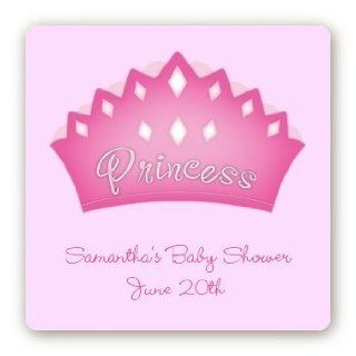 Princess Crown   Square Personalized Baby Shower Sticker Labels: Health & Personal Care