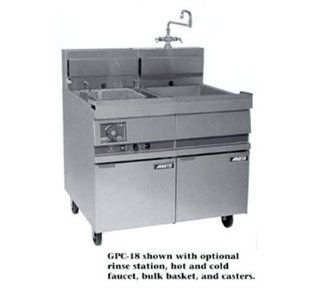 Anets GPC18 NG 18 in Pasta Cooker, Single Tank, w/ Lift Off Basket Hanger & Solid State, NG, Each Kitchen & Dining