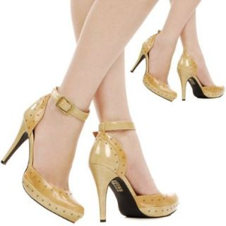 Stage Studded D'Orsay High Heel Pump CAMEL: Pumps Shoes: Shoes