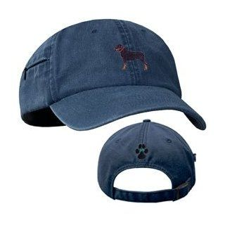 Rottweiler Blue Baseball Cap with Profile Clothing