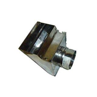 "Square Horizontal Pellet Stove Cap, 3""   Ducting Components"
