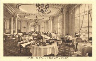 1920s Vintage Postcard Dining Room   Hotel Plaza Athenee   Paris France: Everything Else