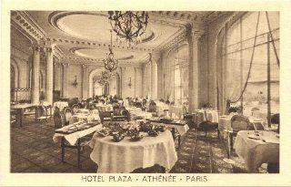 1920s Vintage Postcard Dining Room   Hotel Plaza Athenee   Paris France: Everything Else