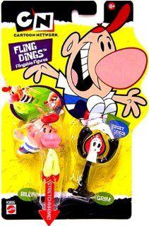 Cartoon Network Fling Dings Flingable Figure 2 Pack Billy and Grim Toys & Games