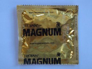 Trojan MAGNUM Condoms   Also available in quantities of 12, 25, 50   (75 condoms): Health & Personal Care