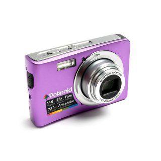 Polaroid t1455 14 Megapixel Compact Camera   5 mm 25 mm   Violet  Point And Shoot Digital Cameras  Camera & Photo