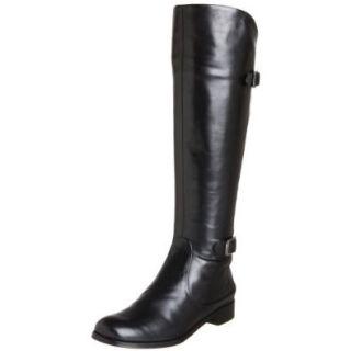 Modern Vintage Women's Janet Knee High Flat Riding Boot, Black Buttero, 6 M US: Shoes