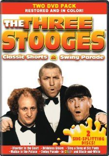 The Three Stooges Classic Shorts & Swing Parade   In COLOR Also Includes the Original Black and White Versions which have been Beautifully Restored and Enhanced Larry Fine, Moe Howard, Curly Howard, Shemp Howard, Gale Storm, Phil Regan, Louis Jorda