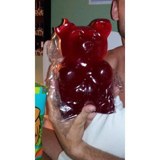 Giant Gummy Bear approx 5 Pounds   Cherry Flavored Giant Gummy Bear  Gummy Candy  Grocery & Gourmet Food