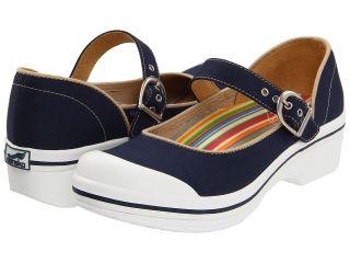 Dansko Valerie Canvas Womens Clog Shoes (Navy)