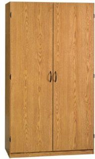 Sauder Beginnings Wardrobe / Storage Cabinet Oregon Oak   Free Standing Cabinets