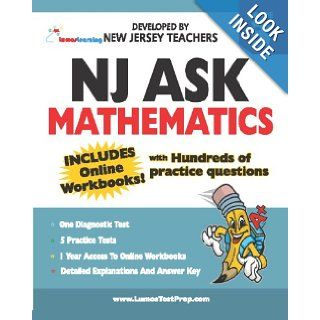 NJ ASK Practice Tests and Online Workbooks   Mathematics Grade 3: Developed by Expert New Jersey Teachers: Lumos Learning: 9780982023204: Books