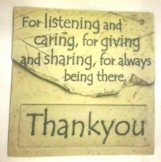Stone Magnets  For Listening and Caring, and Giving and Sharing, for Always Being There, Thank You   Furniture