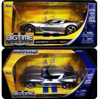 Jada Toys 1/24 Scale Diecast Big Time Muscle 2009 Corvette Sting Ray Concept in Color Silver: Toys & Games