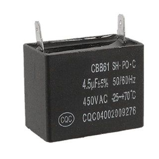 4.5uF 5% 450V AC Air Conditioner Fan Motor Start Capacitor CBB61: Electric Fan Motors: Industrial & Scientific
