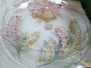 "Studio Nova Japan Studio Nova Bridal Bouquet WY126/601 Hostess Platter 15"" Glassware Dish (Made in Japan): Trays: Kitchen & Dining"