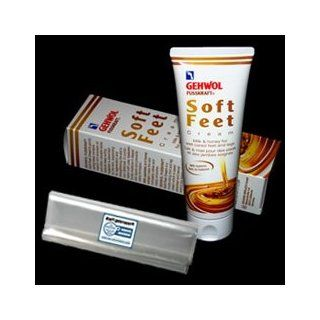GEHWOL FUSSKRAFT Soft Feet Cream kit / GERLACH Soft Feet Cream / Milk and Honey for well cared feet and legs / Contains 125ml / Comes with preserving pack / Dermatologically tested / Made in Germany Health & Personal Care