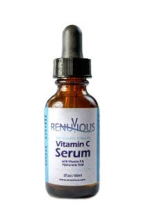 Vitamin C Serum for Face   You Get 2 Ounces Instead Of 1   Potent Anti Aging Serum Contains The Highest Active Bio Available Vitamin C Suspended in Pure Vegan Hyaluronic Acid + Vitamin E to Smooth Out Fine Lines and Wrinkles for Beautiful Skin: Beauty