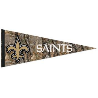 New Orleans Saints 12 x 30 Real Tree Camo Premium Pennant