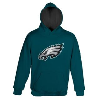 Philadelphia Eagles Youth Logo Pullover Hoodie   Midnight Green