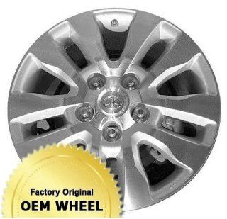 TOYOTA SEQUOIA,TUNDRA 20X8 5 DOUBLE SPOKES Factory Oem Wheel Rim  MACHINED FACE GREY   Remanufactured Automotive
