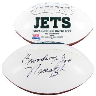 Joe Namath New York Jets Autographed White Panel Football