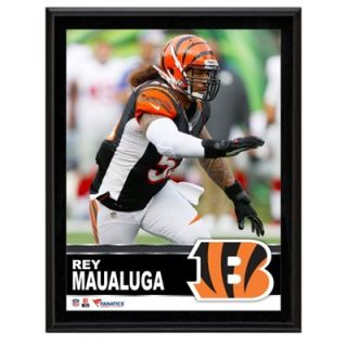 Rey Maualuga Cincinnati Bengals Sublimated 10.5 x 13 Plaque
