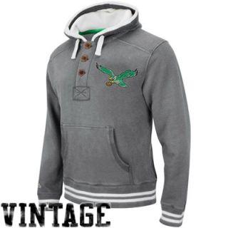 Mitchell & Ness Philadelphia Eagles Vintage Primary Logo Pullover Hoodie   Gray