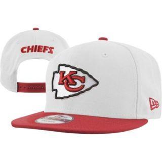 New Era Kansas City Chiefs White/Red 9FIFTY White Top Snapback Hat