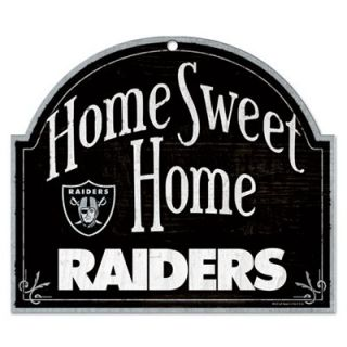 Oakland Raiders 11 x 9 Home Sweet Home Sign