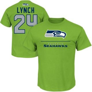 Marshawn Lynch Seattle Seahawks Aggressive Speed T Shirt   Neon Green